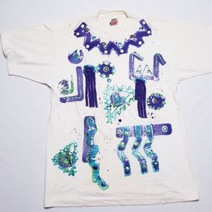 Vintage bedazzled 80s tee shirt